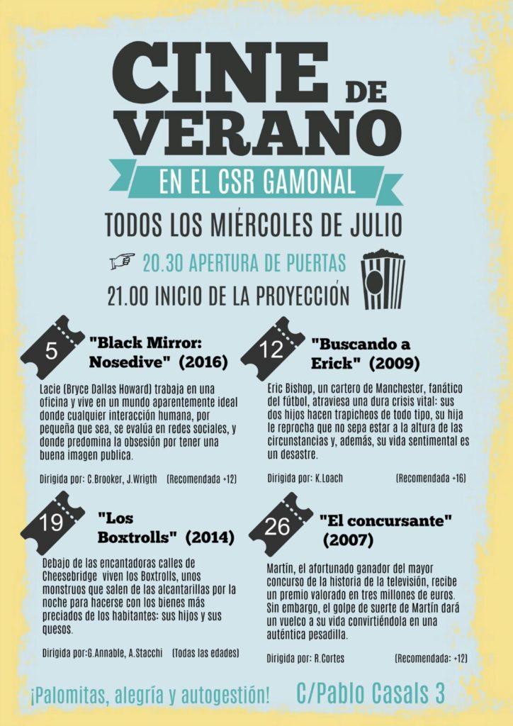Cine de Verano – Julio